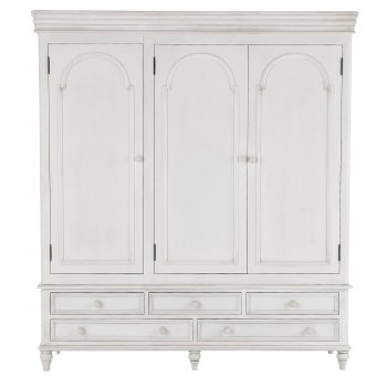 Emporium home Bella painted white triple wardobe with 5 drawers