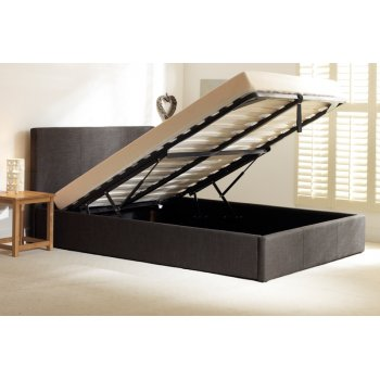 Emporia beds Stirling grey fabric storage ottoman bed