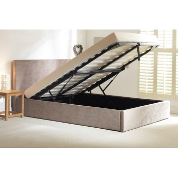Emporia beds Stirling stone fabric storage ottoman bed