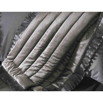 Kylie bedding Ionia kitten grey 150cm x220cm bed throw