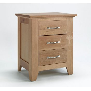Ametis furniture Sherwood light oak 3 drawer bedside
