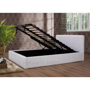 Birlea Ottoman white faux leather storage bed