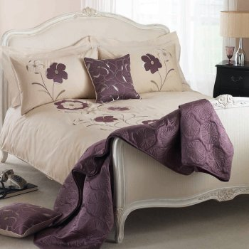 Dreams n drapes Dauphine heather floral duvet set