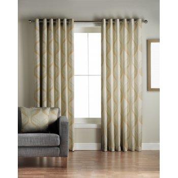 Jeff banks home Cyrus green readymade eyelet curtains