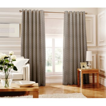 Whiteheads Loretta silver readymade eyelet curtains