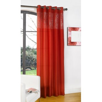 """Dreams n drapes Glamour red single silk voile panel 55""""x 90"""""""