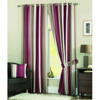 Dreams n drapes Whitworth claret readymade eyelet curtains