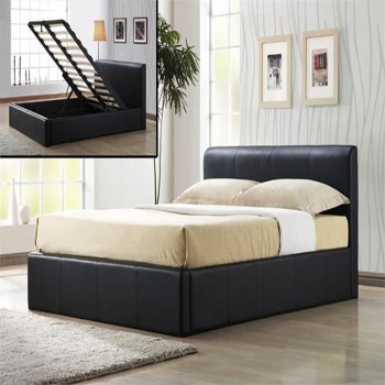 Time living Frankfurt ottoman brown storage bed