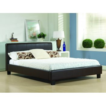 Time living Hamburg brown faux leather low foot bed