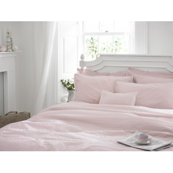 Helena springfield Melodie blush pink embroidered lace duvet cover