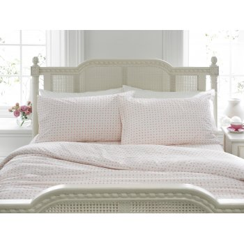 Helena springfield Kew pink two tone dotted duvet cover