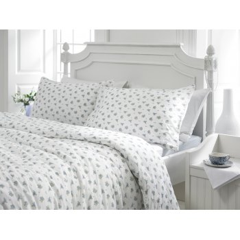Helena springfield Chelsea blue on white floral duvet cover