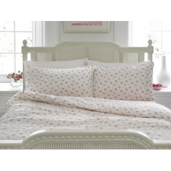 Helena springfield chelsea pink on ivory floral duvet cover
