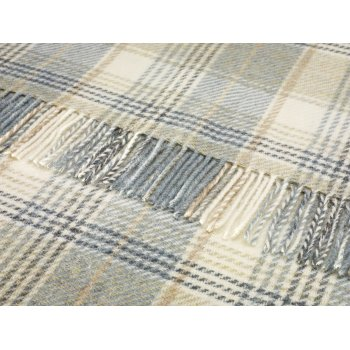 Bronte Huntingtower aqua shetland 140cm x 185cm pure new wool throw