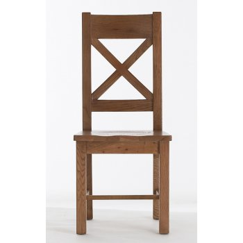 Emporium home bretagne cross back wooden seat chair