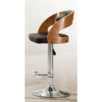 Exclusive uk Brava brown PU leather chrome barstool