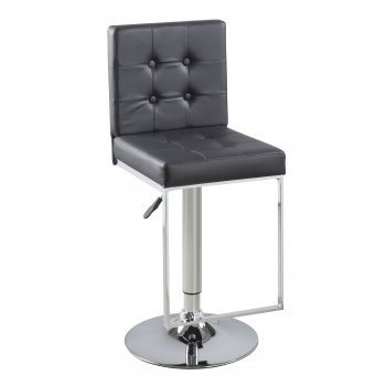 Exclusive uk Verlo black PU leather and chrome barstool