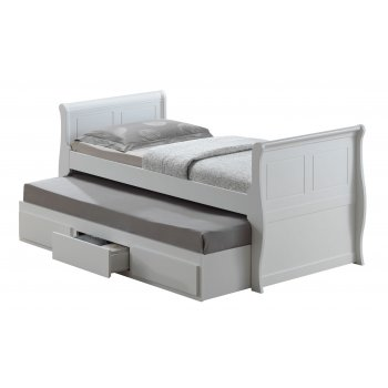 Joseph Oasis white guest bed with storage drawer