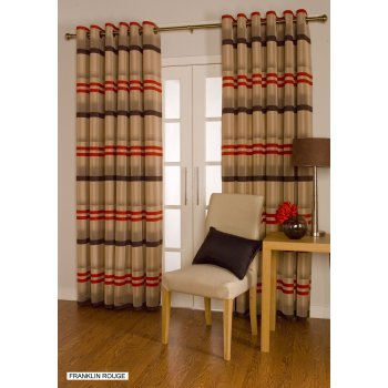 Urban living Franklin rouge eyelet readymade curtains