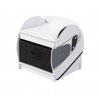 Kidsaw speed racer black and white bedside cabinet