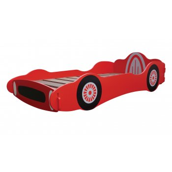 Kidsaw Racing car red boys single bedframe
