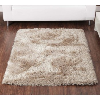 Ultimate rug company Balotelli light beige handwoven 100% polyester rug