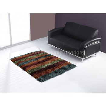 Ultimate rug company Royal balotelli stripes multi handwoven 100% polyester rug