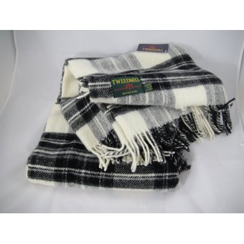Tweedmill textiles Jura grey dress stewart tartan 150cm x 183cm throw
