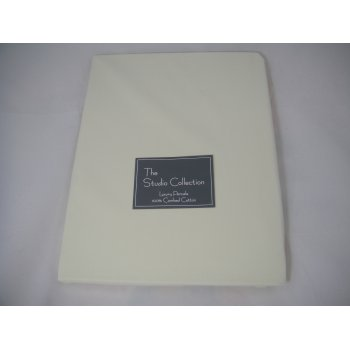 Shades of white Exclusive premium quality ivory herringbone 100% combed cotton fitted sheet