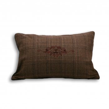 Riva paoletti Courcheval brown tartan check cushion cover, 40cm x 60cm