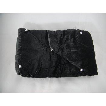 Riva paoletti Diamante black velvet 70cm x 220cm bed runner