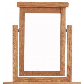 Emporium home Montreux solid oak vanity mirror