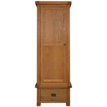 Emporium home Montreux solid oak single wardrobe