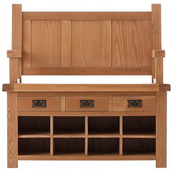 Emporium home Montreux solid oak monks bench