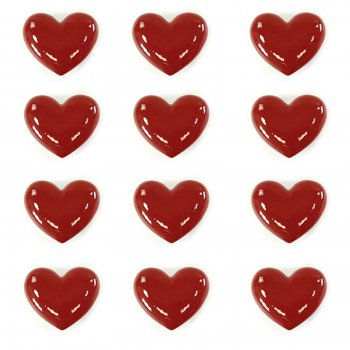 Novus imports Medium love hearts ceramic set of 12