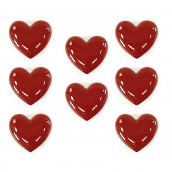 Novus imports Large love hearts ceramic set of 8