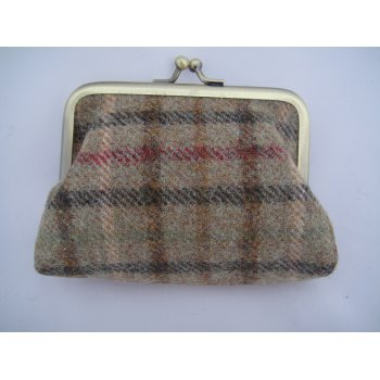 Emporium tweed company Ladies coin purse balmoral sage moons fabric