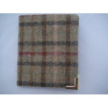 Emporium tweed company Gents wallet genuine wool scottish made in balmoral sage