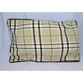 Style furnishings Chequers beige 60cm x 40cm rectangle piped cushion cover