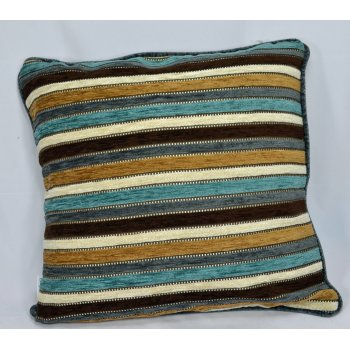 Style furnishings Spectrum aqua chenille cushion cover, 43cm