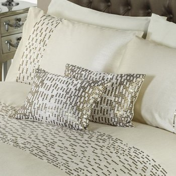 Dreams n drapes Chic oyster sequins boudoir 28x38 filled cushion