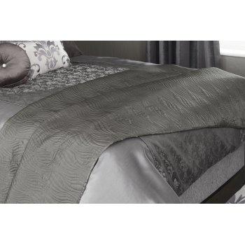 Iliv Ciprini granite velvet reversible bed throw - 200cm x 140cm