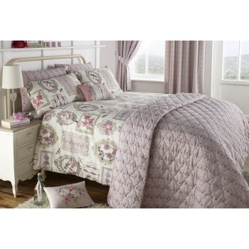 Dreams n drapes Pretty as a picture rose quilted floral bedspread 195cm x 229cm