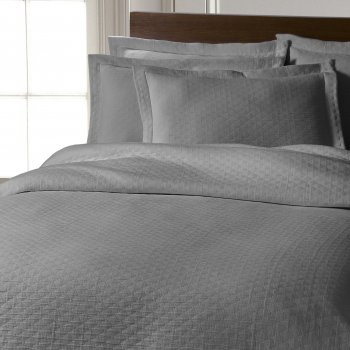 Design port Chester stonewashed pure cotton bedspread - silver grey
