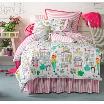 Linenhouse hiccups Catwalk fashion girls pink bed linen