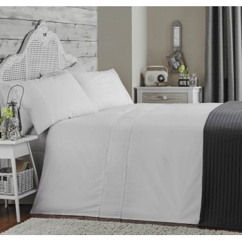 Appletree Ladder stitch white pure cotton 200 thread count duvet set