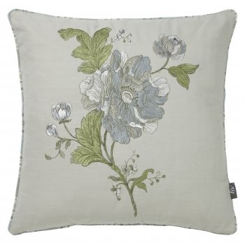 Iliv Aquitaine french floral eau de nil reversible feather filled cushion 43cm