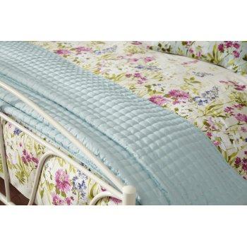 Iliv Meadow seafoam eau de nil quilted bedspread