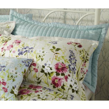 Iliv Meadow seafoam quilted pillowsham
