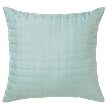 Iliv Meadow seafoam polkadot quilted feather filled cushion